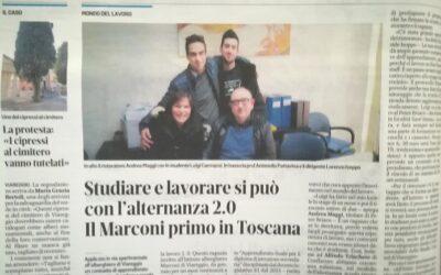 Il Marconi primo in Toscana – Studiare e lavorare si può con l'alternanza 2.0