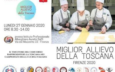 """Concorso """"Il miglior allievo degli istituti alberghieri della Toscana"""" – Firenze 27 gennaio 2020"""