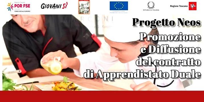 Progetto NEOS – Nuove opportunità per l'apprendistato duale – finanziato dalla Regione Toscana.